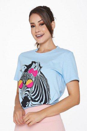 t shirt femina algodao azul claro estampa zebra epulari epu002 frente2