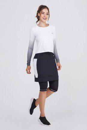 shorts saia ciclista preto branco com almofada uv50 epulari ep048br frente1
