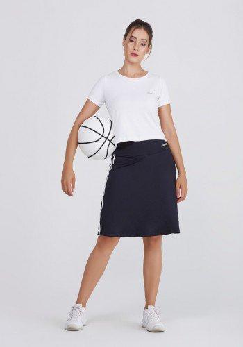 shorts saia preto com branco poliamida protecao uv50 epulari frente 7