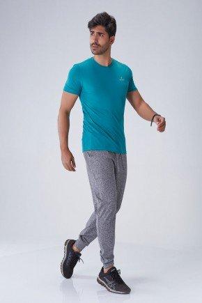 calca jogger masculina mescla cinza com cordao holyfit frente