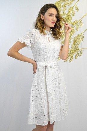 vestido chemise saida de banho praia na cor branco em lasie lekazis