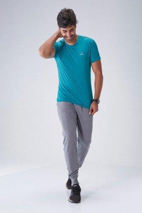 calca jogger masculina moleton cinza holyfit hf0303 frente