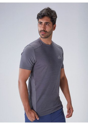 camiseta fitiness masculina poliamida recorte dupla face chumbo protecao uv50 holyfit frente