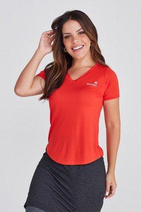 t shirt feminina vernelha poliamida com protecao uv50 moda fitness epulari