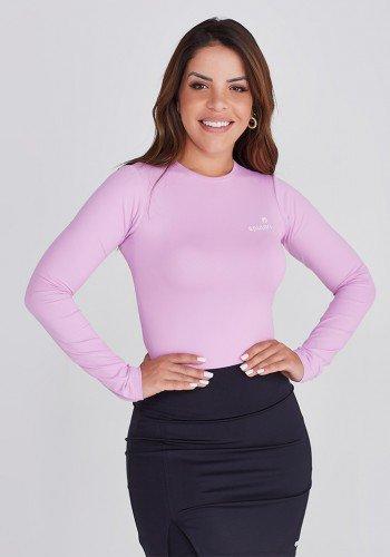 body manga longa rosa bebe em poliamida protecao uv50 epulari paola santana