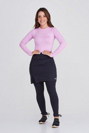 saia calca preta poliamida emana plus alta compressao moda fitness evangelica epulari