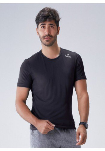 camiseta masculina dry fit verde gola redonda com protecao uv50 holyfit 1