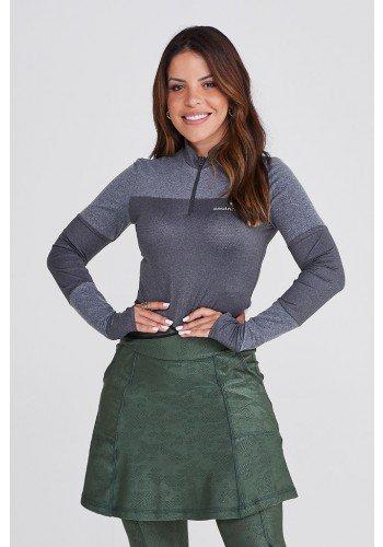 blusa manga longa cinza poliamida com protecao uv50 epulari