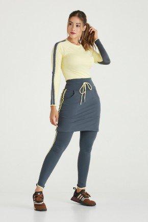 saia calca comprida chumbo supplex original alta compressao moda fitness modesta evangelica epulari