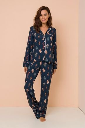 pijama conjunto manga longa com calca hosana lekazis pj003 1