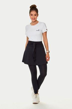 saia calca comprida preta listras brancas 1