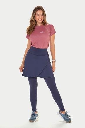 saia calca azul transpassada poliamida moda fitness evangelica