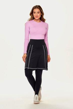 saia calca preta comprida moda fitness alta compressao poliamida epulari 3