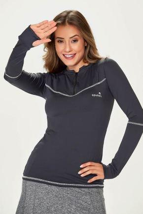 blusa preta poliamida com protecao uv50 e repelente manga longa feminina epulari 3