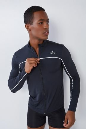 blusa manga longa masculina preta com ziper holyfit hf1301 1