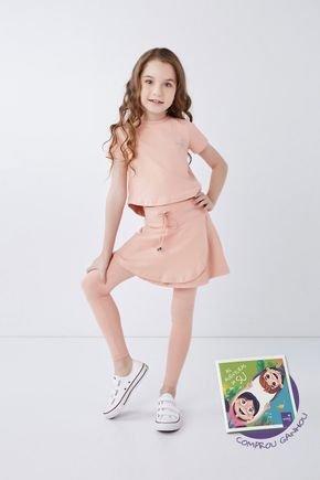 saia calca comprida infantil moda fitness evangelica poliamida rose epulari 81