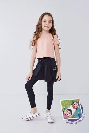 saia calca preta comprida infantil poliamida moda fitness evangelica epulari kids 11
