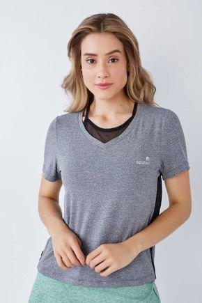 blusa manga curta em poliamida cinza com preto epulari 2
