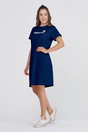 vestido camiseta azul algodao estampa logo epulari 7